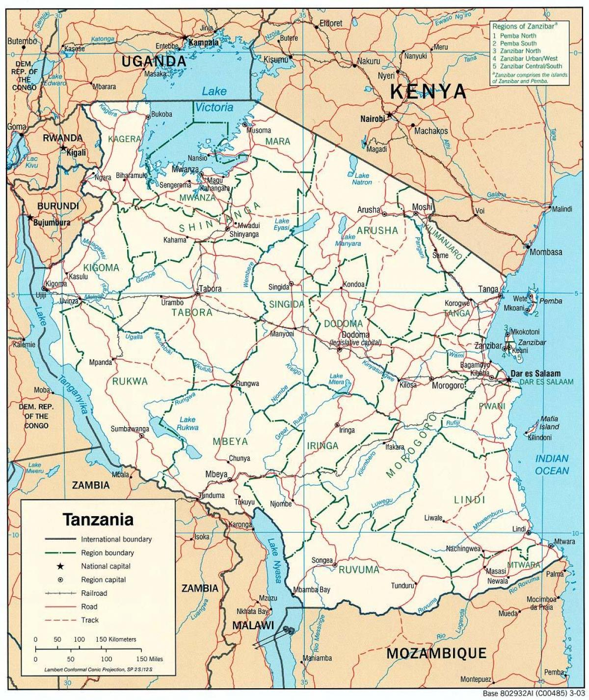 new map of tanzania