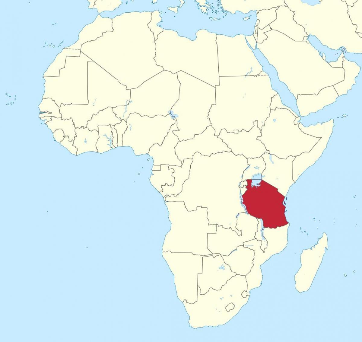 Map Of Africa Tanzania.Tanzania On A Map Of Africa Tanzania On The Map Of Africa Eastern