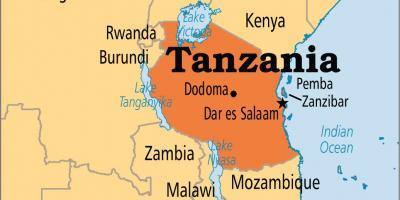 Tanzania map   Maps Tanzania (Eastern Africa   Africa)