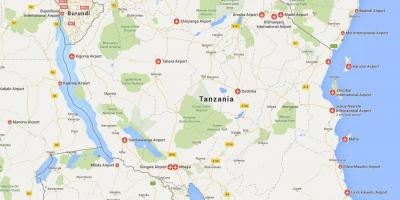 Map of tanzania airports