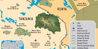 Map of tanzania kilimanjaro
